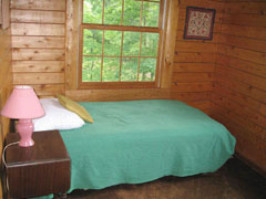 The second upstairs bedroom has a single bed, and a lovely view of the Shenandoah Valley.